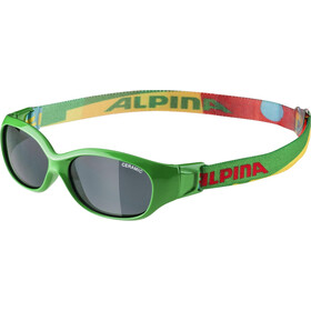Alpina Sports Flexxy Glasses Kinder green-puzzle